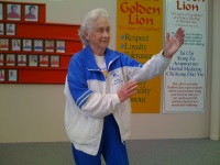 Tai chi for seniors 90 year old Jean Washfold